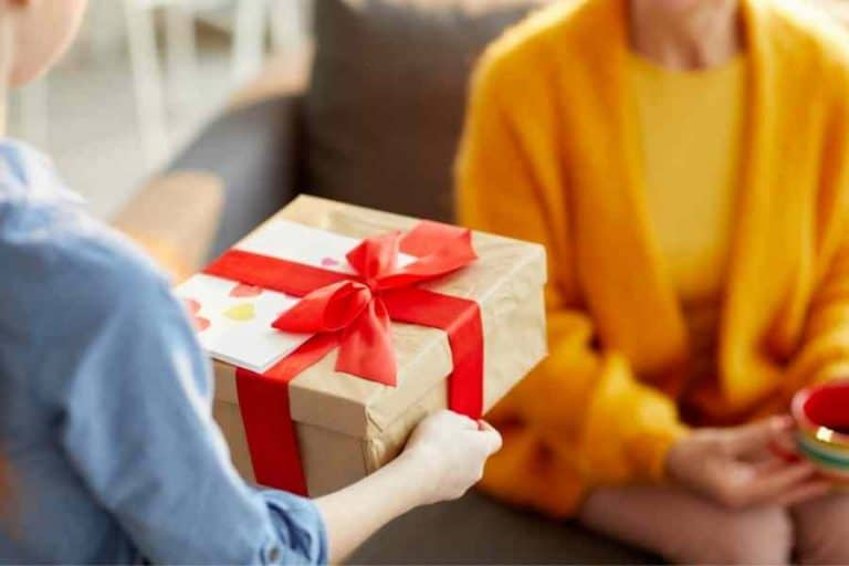 mom receiving a gift