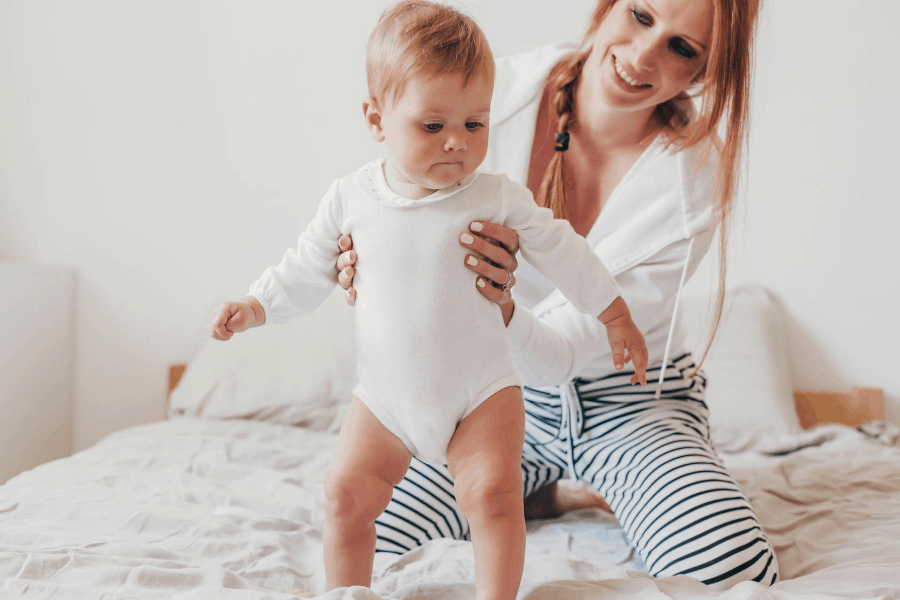 stay at home mom with baby