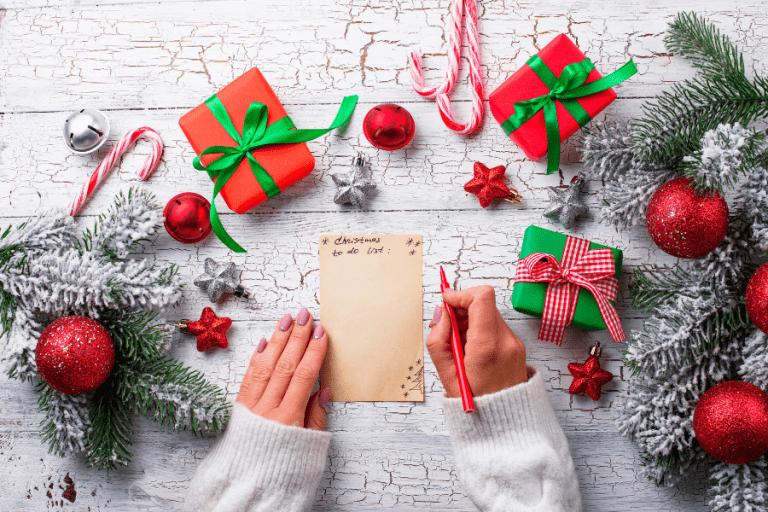 organized christmas list