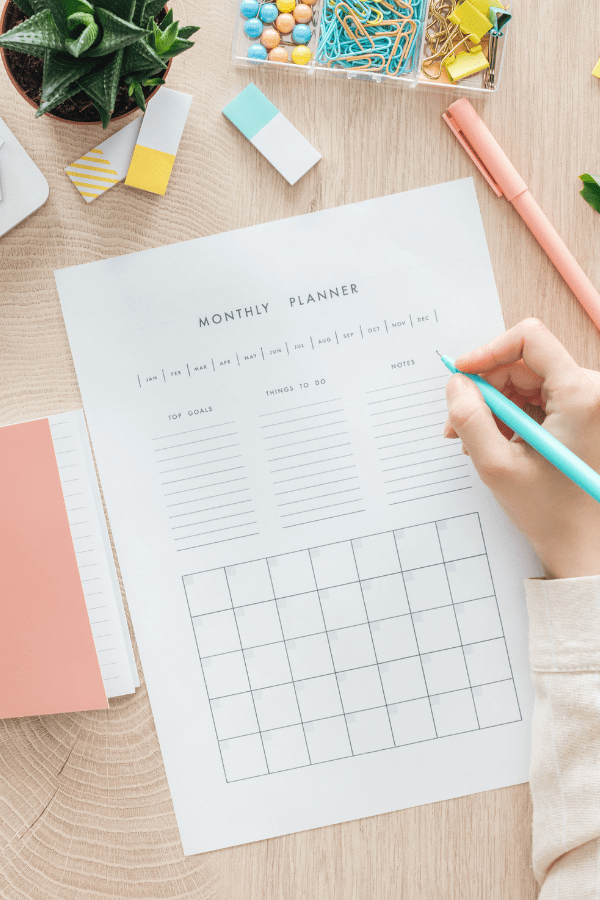 home management planner