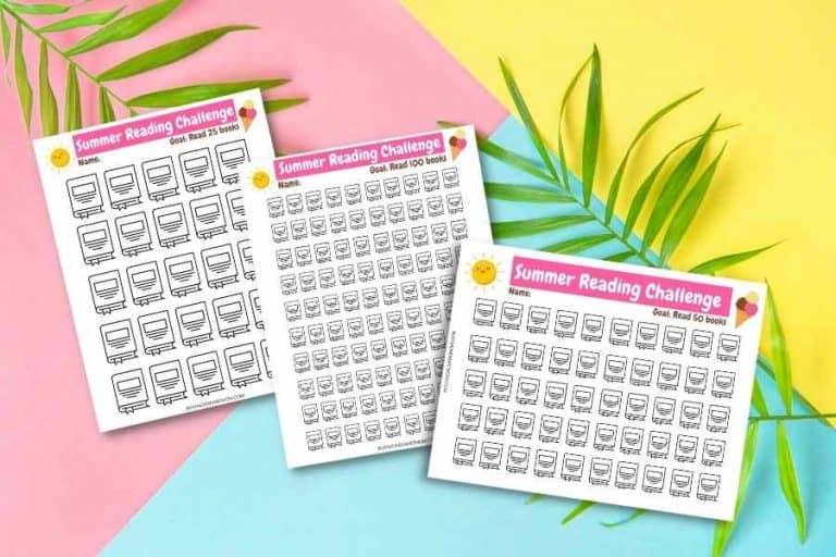 free summer reading challenge printables