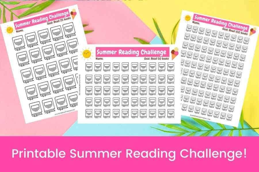 summer reading challenge printables