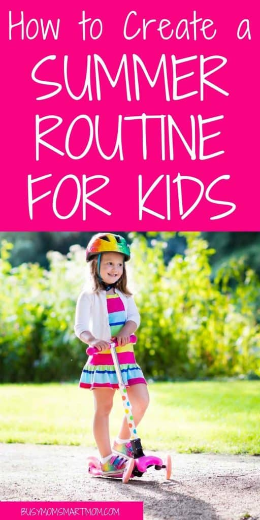 daily routine for kids in summer
