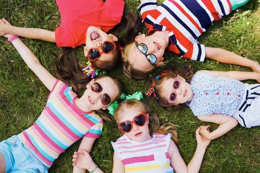 kids spending time outside in summer