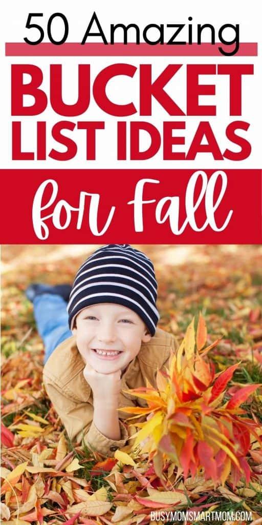 fall bucket list ideas for kids
