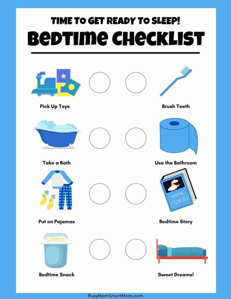 free bedtime chart