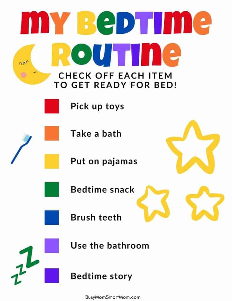 bedtime chart printable