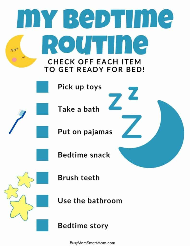 bedtime charts for kids