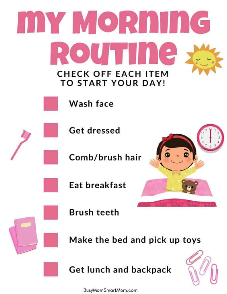 morning routine charts